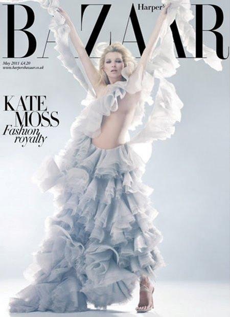 ¡God save Kate Moss, McQueen y el Harpers Bazaar UK de mayo!