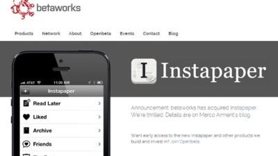 Betaworks compra Instapaper, el complemento ideal para su futuro lector de feeds