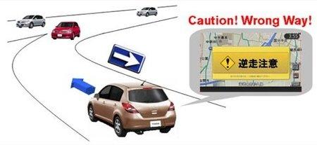 Nissan sistema aviso circulación sentido contrario