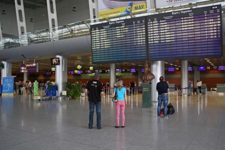 Flight Information Display At Lviv International Airport