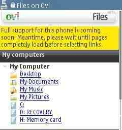 Anytime Files, opción de pago para Files on Ovi