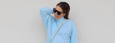Paula Echevarría luce chándal de Primark como look street-style y lo combina con un bolso de lujo