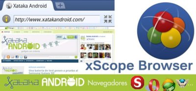 Navegadores en Android: xScope Browser