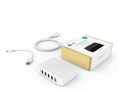 Cargador Aukey PA-U1 con 5 puertos USB por 7,79 euros