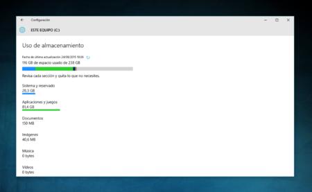 Así funciona la aplicación de Uso de almacenamiento de Windows 10