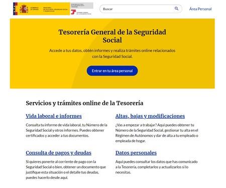 Portada de Import@ss, el nuevo portal de la Tesorería General Seguridad Social