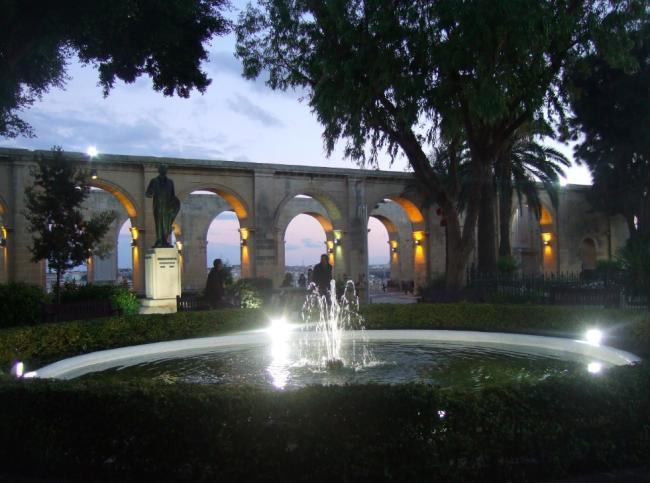 Jardines en La Valeta