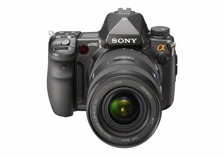 Sony A900 DSLR vista frontal