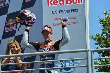 MotoGP Estados Unidos 2012: Casey Stoner repite el guión del año pasado y se lleva la victoria