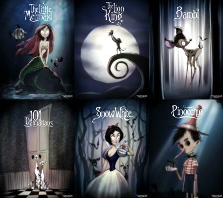 ¿Cómo serían los clásicos Disney de haberlos dirigido Tim Burton?