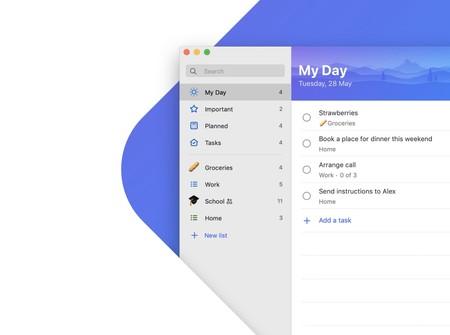 Microsoft lanza su gestor de tareas To-Do de forma gratuita en el Mac App Store y como complemento a la app de iOS