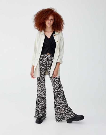 Pantalones Campana Leopardo
