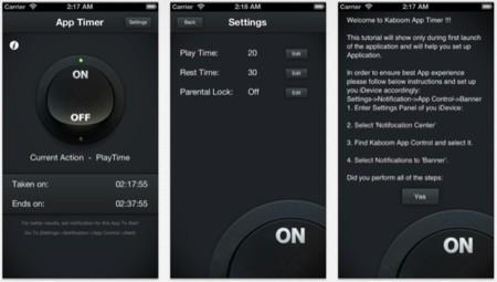 Kaboom, limita el tiempo que puedes utilizar un dispositivo iOS