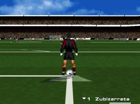 PC Fútbol 5.0 Zubizarreta sacando de portería.