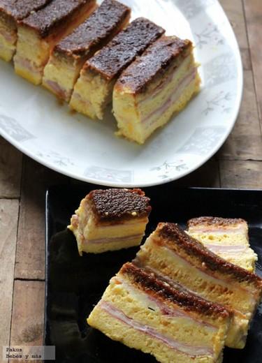 Pudding de jamón York y queso ideal para los niños. Receta sencilla