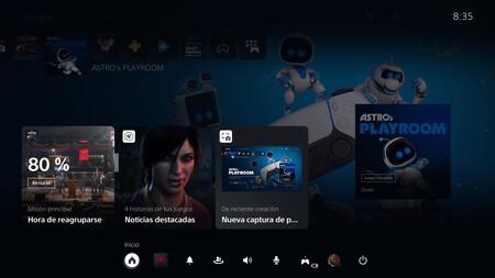 Interfaz PS5