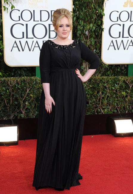 Está pasando: Adele y el eccema en sus golden globes