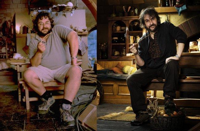 Peter Jackson durante el rodaje de El Señor de los Anillos (2001) y El Hobbit (2011)