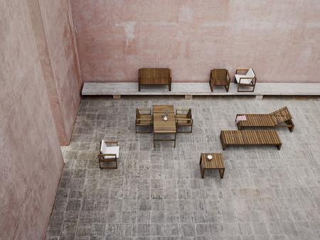 Kjaer Bk11 Lounge Chair Bk15 Dining Table Bk10 Dining Chair Bk12 Lounge Seating 2 Bk14 Sunbed Bk16 Side Table Landscape