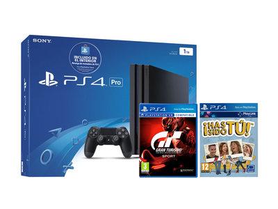 Pack PS4 Pro de 1TB + Gran Turismo Sport + Has sido tú por 305 euros y envío gratis