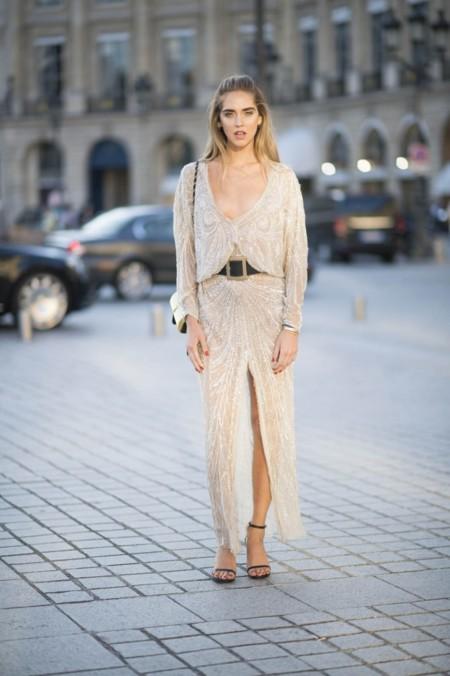 Chiara Ferragni Con Vestido De Roberto Cavalli B