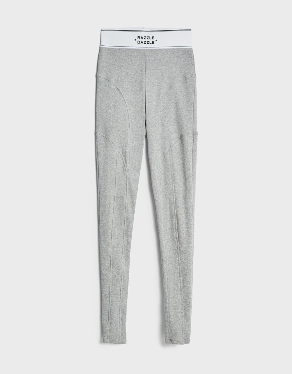 Leggings de color gris.