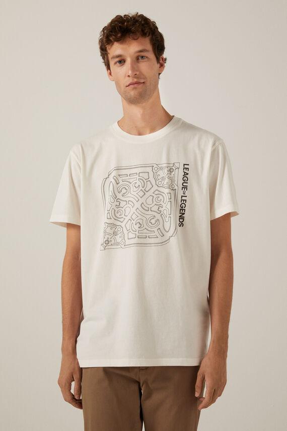Camiseta blanca en algodón con estampado de League of Legends