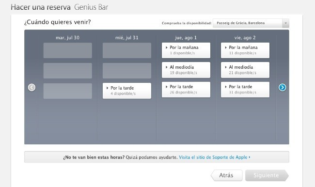 reservas genius bar apple store