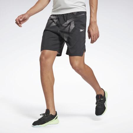 Pantalon Corto Workout Ready Allover Print Negro Gl3187 01 Standard