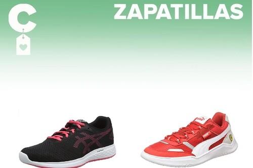 Chollos en tallas sueltas de  zapatillas Asics, Puma o New Balance en Amazon