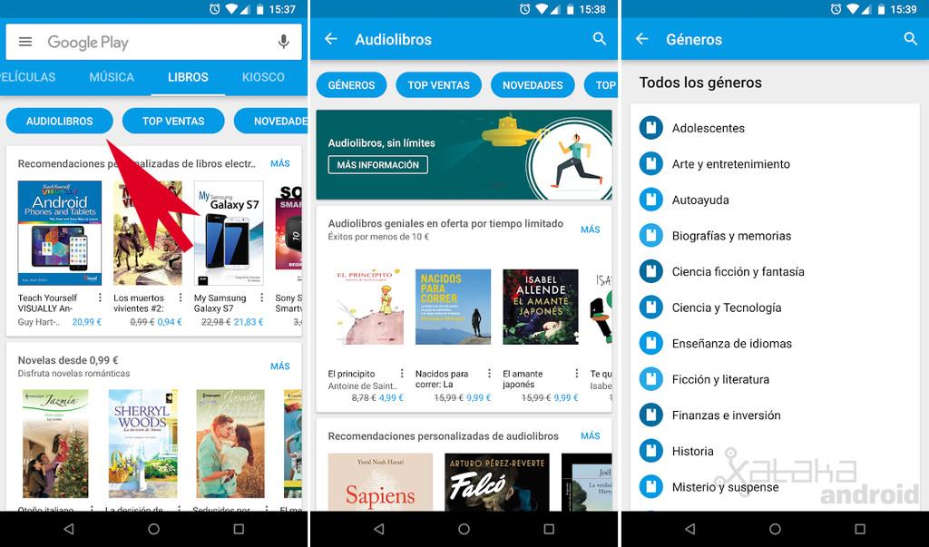 Audiolibros Google™ Play