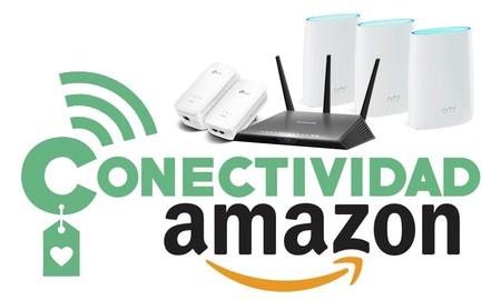 Ofertas en conectividad en Amazon: sistemas WiFi Mesh, routers, enchufes inteligentes, extensores o switches a precios rebajados