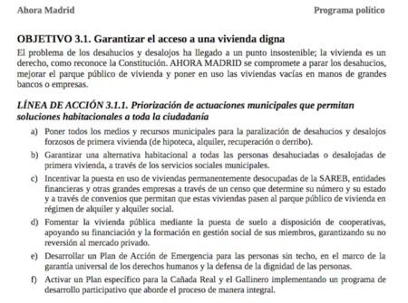Programa Ahora Madrid