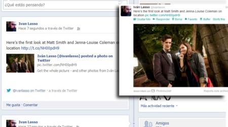 Twitter mejora la integración con Facebook incluyendo enlaces a hashtags, usuarios y fotos