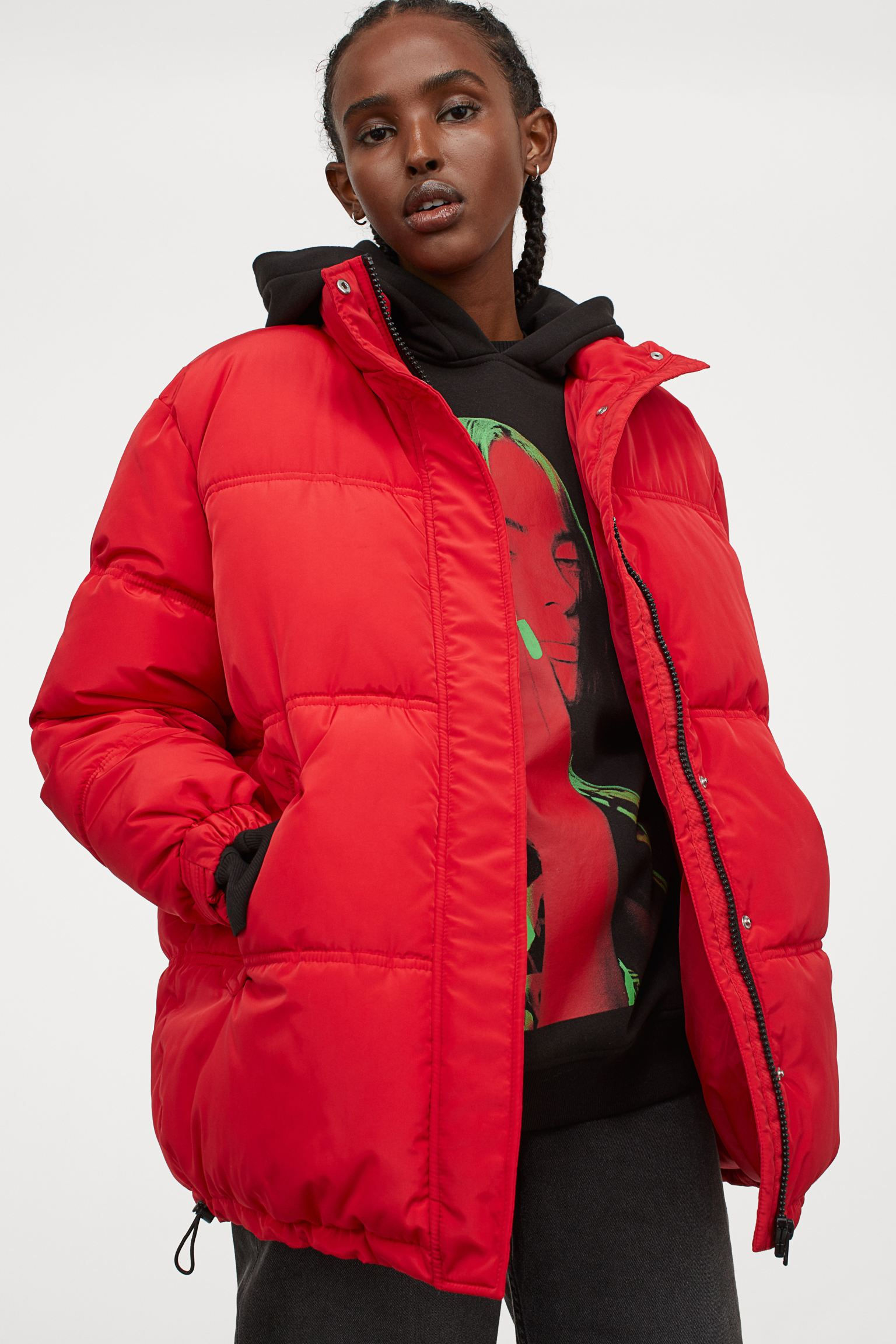Abrigo puffy rojo