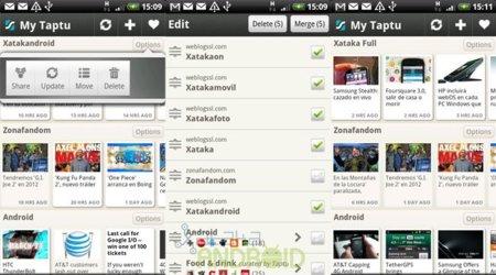 My Taptu: Unir varios feeds en uno