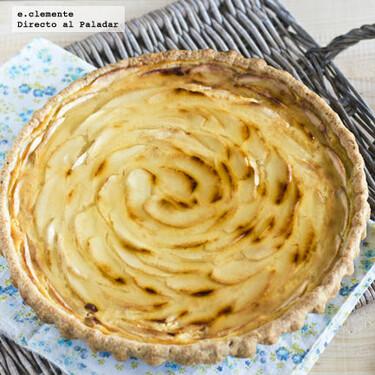 Receta golosa de tarta de manzana y leche condensada