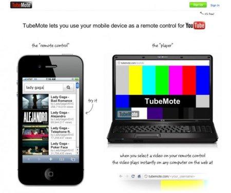 Tubemote convierte cualquier navegador en un mando a distancia para YouTube
