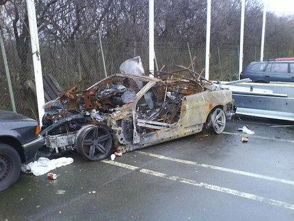 BMW M6 hoguera