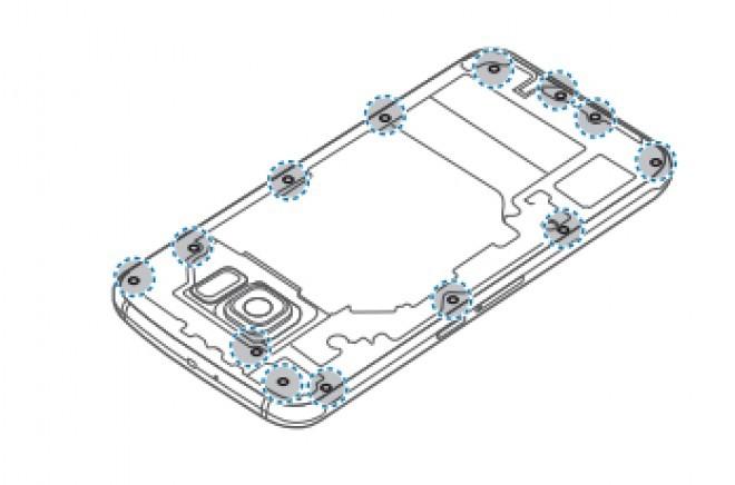 Foto de Samsung Galaxy S6, extracción de batería (2/5)