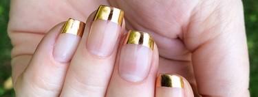 La manicura francesa se eleva con metalizados: su variante más glamourosa es ideal para las invitadas