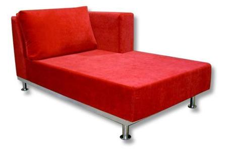 funky sofa chaise rojo
