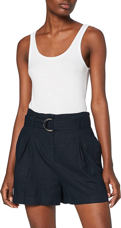 Marca Amazon - find. Shorts de Lino Mujer