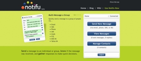Notifu, sencillo servicio de envío de notificaciones a nuestros contactos