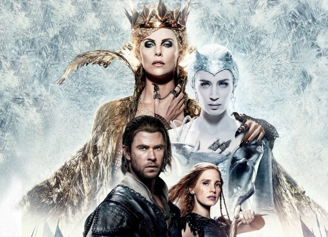 Cartel Las Cronicas De Blancanieves El Cazador Y La Reina Del Hielo