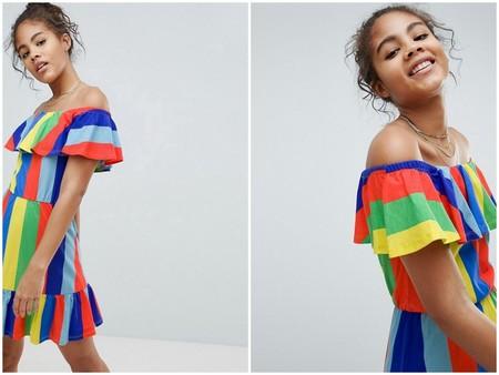Vestido Multicolor Asos