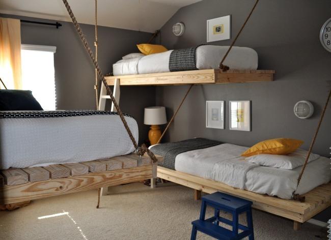 Hazlo tú mismo: unas camas colgantes para niños