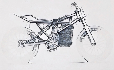 Moto Electrica Flat Track 1