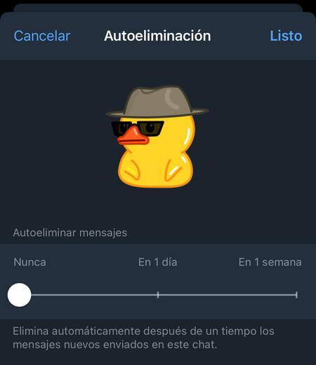 Telegram Caducidad Mensajes 4