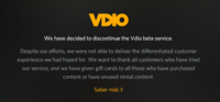 Rdio cierra Vdio, su servicio de streaming de películas y series